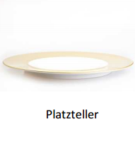 Platzteller  Colour Vollgold