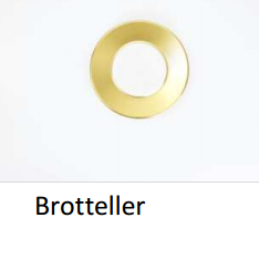 Brotteller Colour Vollgold