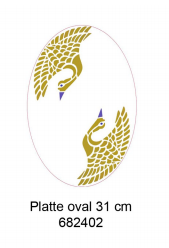 Platte oval - Bold Graphic  31 cm