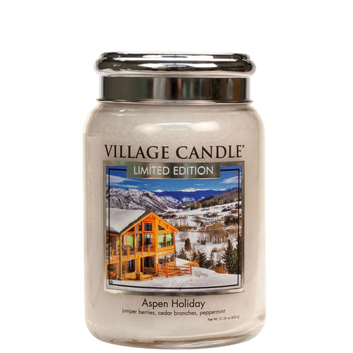 ASPEN HOLIDAY LE Village Candle