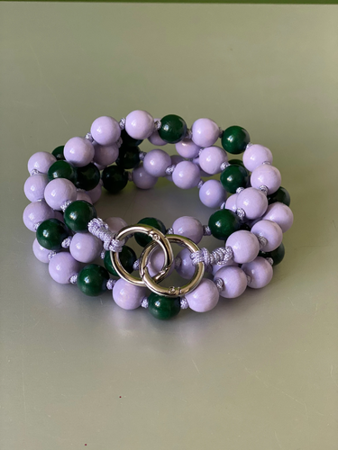 Upbeads Kette Lilac and green
